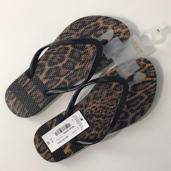 511651fc84167b MixIt woman s flip flop sandals leopard